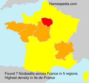 Familiennamen Nzobadila - France