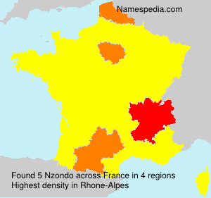 Familiennamen Nzondo - France
