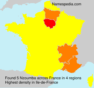 Familiennamen Nzoumba - France