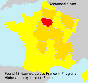 Familiennamen Nzumba - France