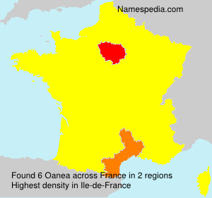 Surname Oanea in France