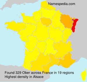 Familiennamen Ober - France