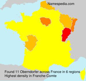 Surname Oberndorfer in France