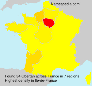 Surname Obertan in France