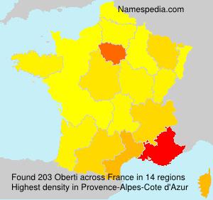 Familiennamen Oberti - France