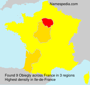 Surname Obiegly in France