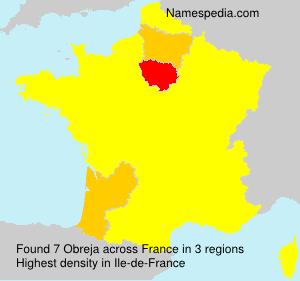 Familiennamen Obreja - France