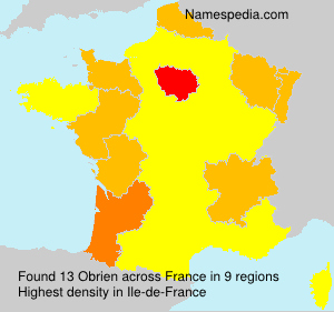 Surname Obrien in France