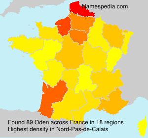 Surname Oden in France