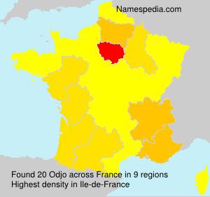 Familiennamen Odjo - France