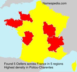 Familiennamen Oellers - France
