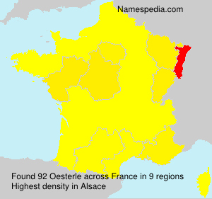 Surname Oesterle in France