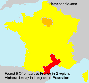 Surname Offen in France