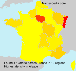 Surname Offerle in France