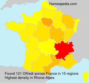 Surname Offredi in France
