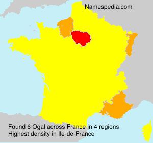 Familiennamen Ogal - France