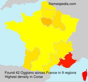 Familiennamen Oggiano - France