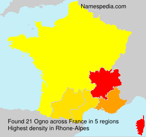 Familiennamen Ogno - France