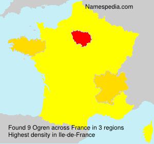 Surname Ogren in France