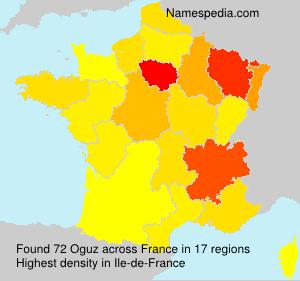 Surname Oguz in France