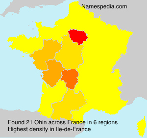 Surname Ohin in France