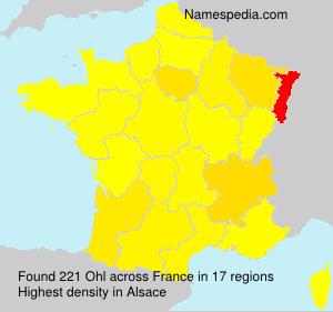 Surname Ohl in France