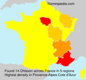 Surname Ohlsson in France