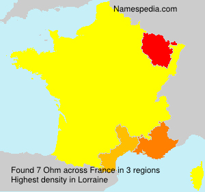 Surname Ohm in France