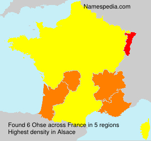 Surname Ohse in France