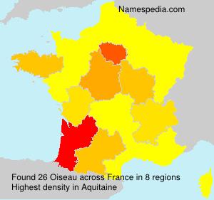 Familiennamen Oiseau - France