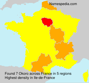 Surname Okoro in France