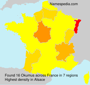 Surname Okumus in France