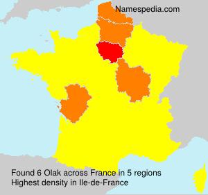 Surname Olak in France