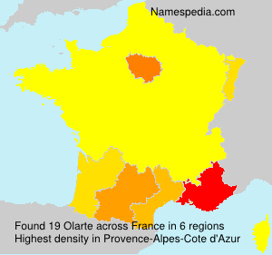 Surname Olarte in France