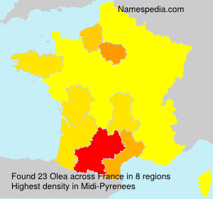 Surname Olea in France