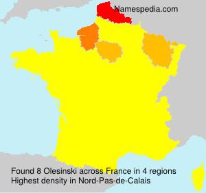 Surname Olesinski in France