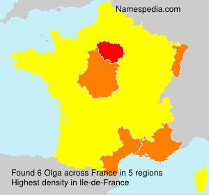 Surname Olga in France