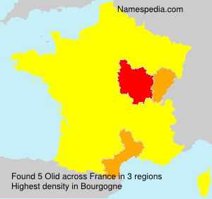 Surname Olid in France