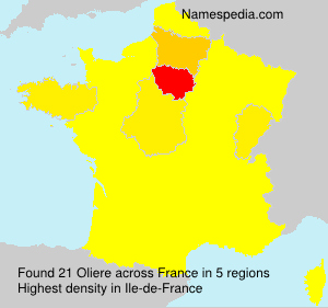 Surname Oliere in France