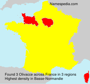 Surname Olivacce in France