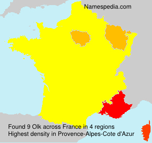 Familiennamen Olk - France