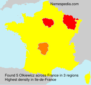 Surname Olkiewicz in France