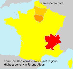 Surname Ollon in France