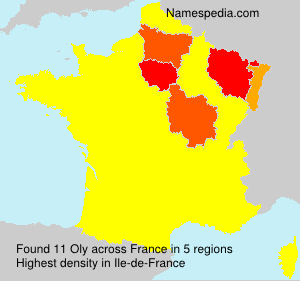 Surname Oly in France