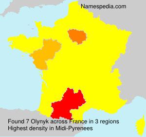 Surname Olynyk in France