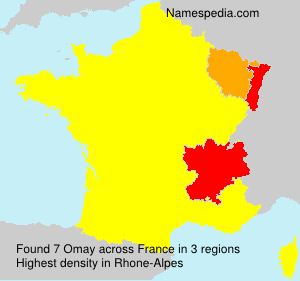 Surname Omay in France
