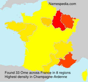 Surname Ome in France