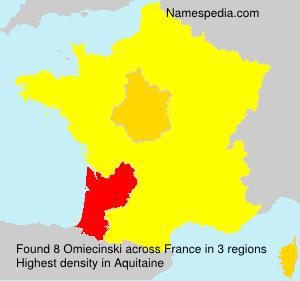 Surname Omiecinski in France
