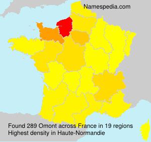 Surname Omont in France