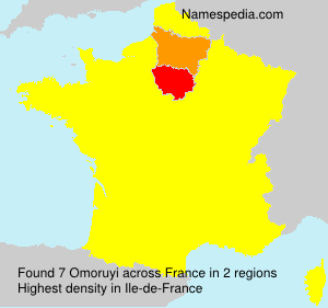 Surname Omoruyi in France